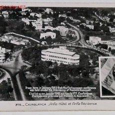 Postales: ANTIGUA POSTAL DE CASABLANCA (MARRUECOS) HOTEL DONDE ESTUVO ROOSELVELT PRESIDENTE USA EN 1943. Lote 106611
