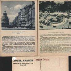 Postales: MADRID - HOTEL ARAGON. Lote 27544548