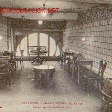 Postales: FRANCIA - TOULOUSE - GRAND HOTEL DE PARIS - SALON DE CORRESPONDANCE. Lote 403060