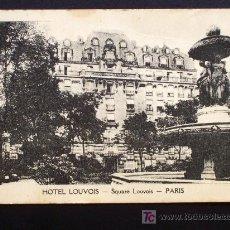 Postales: HOTEL LOUVOIS - SQUARE LOUVOIS - PARIS - SIN CIRUCLAR PERO ALGO FATIGADA. Lote 16478164