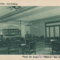 Postales: GRAN HOTEL VICTORIA, PLAZA DEL ANGEL (MADRID) - BAR AMERICANO. Lote 5948252