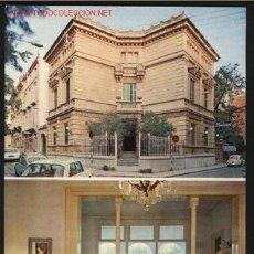 Postales: A-4371- BARCELONA. SITGES. HOTEL ROMANTIC. FACHADA Y SALONES. Lote 22175150