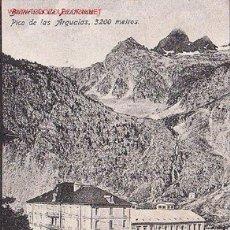 Postales: TARJETA POSTA DEL BALNEARIO DE PANTICOSA. HUESCA. PICO DE LAS ARGUALAS, 3,200 METROS. Lote 14069646