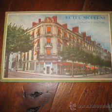 Postales: HOTEL MODERNE CHALON/SANOE. Lote 9897713