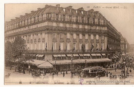 ANTIGUA POSTAL FRANCIA CARTE POSTALE 99 PARIS GRAND HOTEL - LL (Postales - Postales Temáticas - Hoteles y Balnearios)