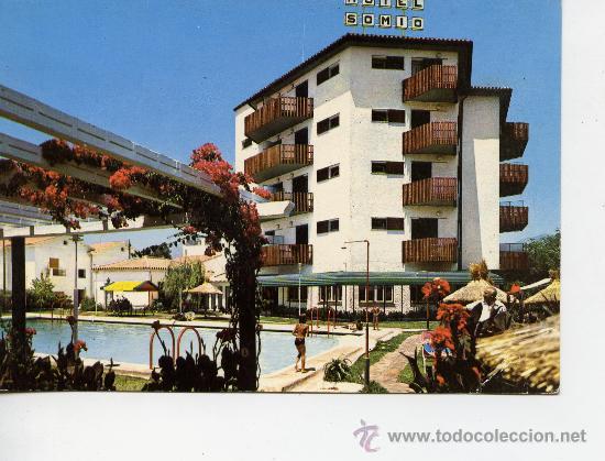 HOTEL SOMIO - FUENGIROLA - AÑO 1966 (Postales - Postales Temáticas - Hoteles y Balnearios)
