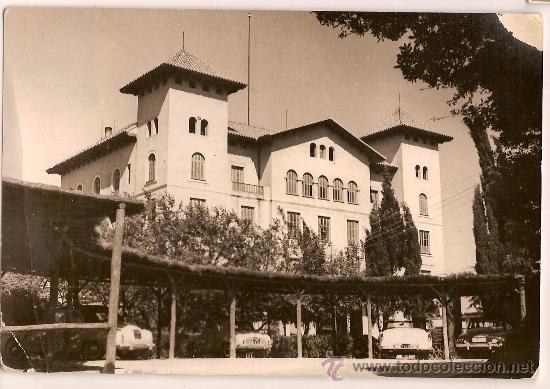 ANTIGUA POSTAL HOTEL FLORIDA CUMBRE DEL TIBIDABO BARCELONA CIRCULADA 1962 (Postales - Postales Temáticas - Hoteles y Balnearios)