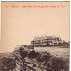 Postales: Nº 1371 POSTAL MALAGA RONDA HOTEL REINA VICTORIA. Lote 25739539