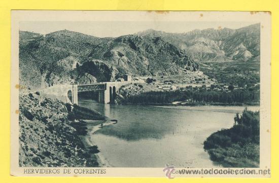 VALENCIA-HERVIDEROS DE COFRENTES-COFLUENCIA CABRIEL Y JUCAR- HUECO.FOURNIER-VITORIA -1957-P 850 (Postales - Postales Temáticas - Hoteles y Balnearios)