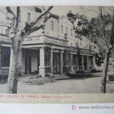 Postales: SANTA COLOMA DE FARNES. Nª 9 BALNEARI TERMES ORION. FOTOTIPIA THOMA. SIN CIRCULAR. Lote 25900881