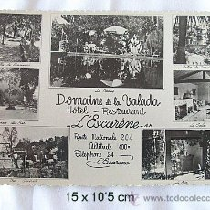 Postales: POSTAL FOTOGRAFICA ANTIGUA HOTEL DOMAINE DE LA VALADA. Lote 14318463
