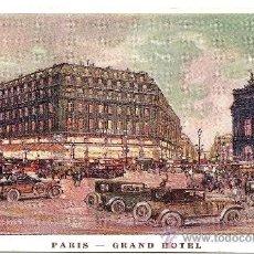 Postales: PARIS - GRAND HOTEL - CIRCULADA 1929. Lote 16586541
