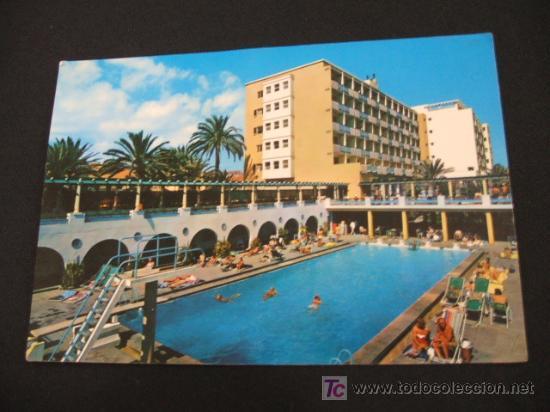 Las palmas de gran canaria piscina del hotel comprar postales antiguas de hoteles y - Piscina las palmas de gran canaria ...
