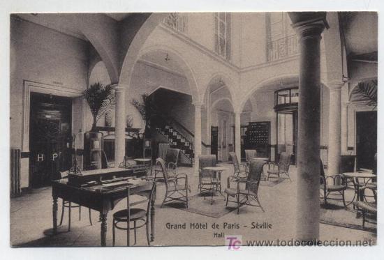 SEVILLE.-GRAN HOTEL DE PARIS. (Postales - Postales Temáticas - Hoteles y Balnearios)