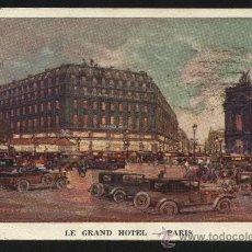Postales: POSTAL DE LE GRAND HOTEL DE PARIS. Lote 19231019