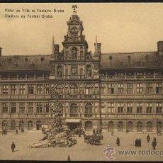Postales: POSTAL DEL HOTEL DE VILLE ET FONTAINE BRABO DE ANVERS - ANTWERPEN. Lote 19231088