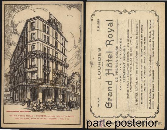 POSTAL GRAN HOTEL ROYAL DE LOURDES (Postales - Postales Temáticas - Hoteles y Balnearios)