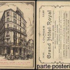 Postales: POSTAL GRAN HOTEL ROYAL DE LOURDES. Lote 120221763