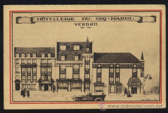 POSTAL DE HOTEL LERIE DU COQ - HARDI. -VERDUN 1827-1921 (Postales - Postales Temáticas - Hoteles y Balnearios)