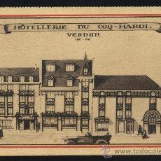 Postales: POSTAL DE HOTEL LERIE DU COQ - HARDI. -VERDUN 1827-1921. Lote 19231437