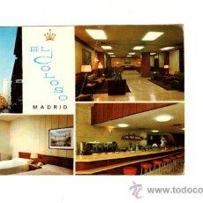 Postales: MADRID HOTEL RESIDENCIA EL COLOSO FOTO GALLEGOS BAR HABITACION SALA ESTAR CALLE 1969 UX. Lote 19983136