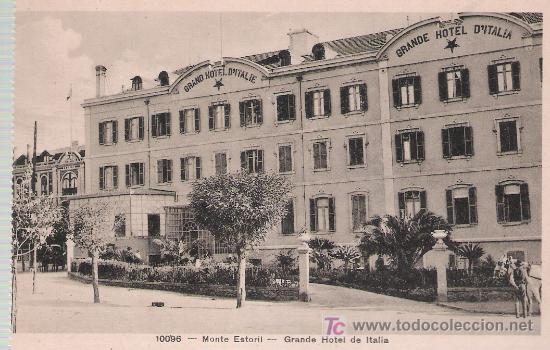 GRANDE HOTEL DE ITALIA. MONTE ESTORIL (PORTUGALL) (Postales - Postales Temáticas - Hoteles y Balnearios)