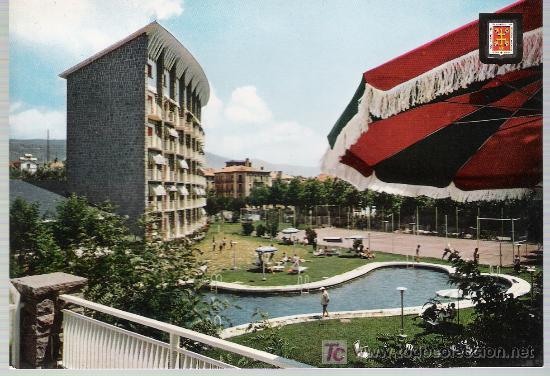 JACA.- GRAN HOTEL Y PISCINA. (Postales - Postales Temáticas - Hoteles y Balnearios)