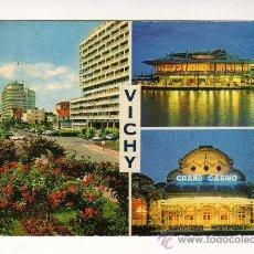 Cartes Postales: VICHY,FRANCIA (CERCA DEL LAGO · LA ROTONDE POR LA NOCHE · EL GRAN CASINO POR LA NOCHE). Lote 23607151