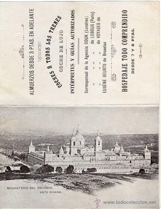 Postales: MAGNIFICA Y RARA POSTAL DOBLE - NEW HOTEL FONDA NUEVA - ESCORIAL (MADRID) - Foto 3 - 24394121