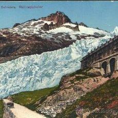 Postales: FURKA PASS - HOTEL BELDÉVÈRE RHONEGLETSCHER (SIN CIRCULAR) . Lote 24970164