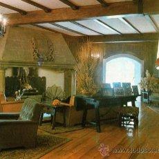 Postales: HOTEL LANDA PALACE BURGOS SALÓN CON CHIMENEA ESCRITA CIRCULADA SIN SELLO. Lote 26523500