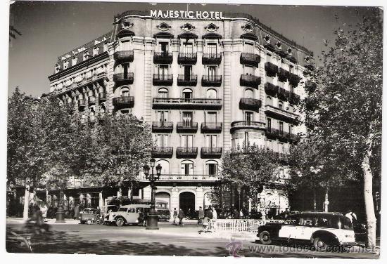 HOTEL MAJESTIC-BARCELONA-AÑOS 50 SIN CIRCULAR (Postales - Postales Temáticas - Hoteles y Balnearios)