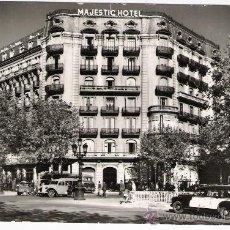 Postales: HOTEL MAJESTIC-BARCELONA-AÑOS 50 SIN CIRCULAR. Lote 27184030