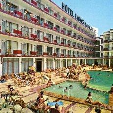 Postales: HOTEL LYONS MAJESTIC BLANES COSTA BRAVA PUBLINTEL ESCRITA CIRCULADA SELLO. Lote 27980467