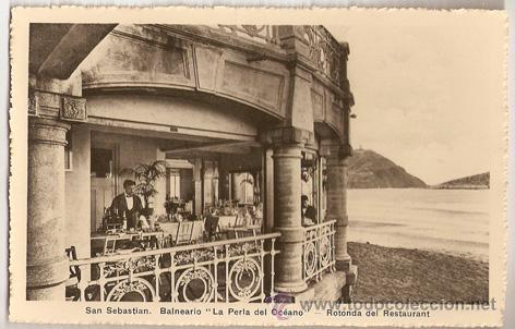SAN SEBASTIAN -LA PERLA DEL OCEANO- FOTO WILLY KOCH (Postales - Postales Temáticas - Hoteles y Balnearios)