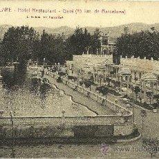 Postales: AMERICAN LAKE - HOTEL RESTAURANT - GAVÀ - FOTO: ROISIN - 1931 (ESCRITA SIN CIRCULAR). Lote 29385609
