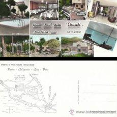 Postales: GRAND HOTEL DEGLI ETRUSCHI, MANZIANA, ROMA, ITALIA. MUESTRO EL DORSO CON MAPA. Lote 30522635