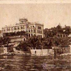 Postales: HOTEL VICTORIA Y CASTILLO DE BELLVER PALMA DE MALLORCA ESCRITA CIRCULADA SELLO. Lote 30591785