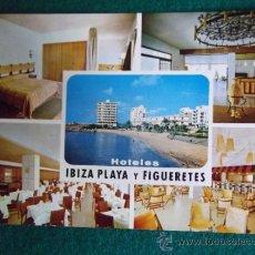 Postales: HOTEL-H1-NO ESCRITA-HOTEL IBIZA PLAYA Y FIGUERETES-IBIZA. Lote 31132446