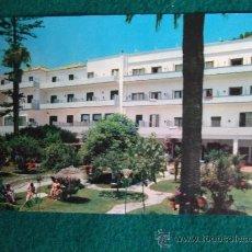 Postales: HOTEL-H1-NO ESCRITA-HOTEL EMPERATRIZ-JARDIN-MALAGA. Lote 31132480