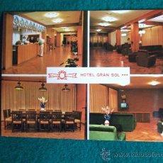 Postales: HOTEL-H1-NO ESCRITA-HOTEL GRAN SOL-SOLSONA-LERIDA. Lote 31132528