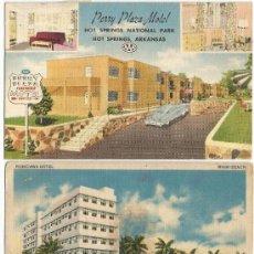 Postales: 2 POSTALES HOTEL USA,AÑOS 50,A COLOR. Lote 31455259