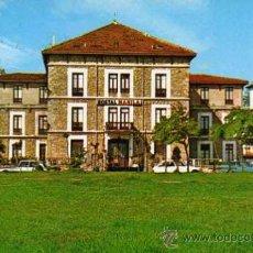 Postales: HOSTAL MANILA SAN VICENTE DE LA BARQUERA ESCRITA CIRCULADA DOS SELLOS FOTO IMPERIO . Lote 31692095