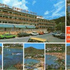 Postales: POSTAL DE ROSES, HOTEL CANYELLES PLATJA. Lote 31914271