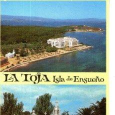 Postales: BUENA POSTAL DE LA ISLA DE LA TOJA, ISLA DE ENSUEÑO - GRAN HOTEL Y CAPILLA. Lote 32039541