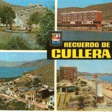 Postales: POSTAL DE CULLERA- EMBARCADERO - HOTEL SICANIA Y HOTEL PORT, BAHIA. Lote 32149367