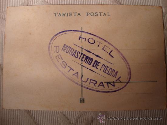 ANTIGUA TARJETA POSTAL ORIGINAL DE P.P.S.XX SELLO HOTEL MONASTERIO PIEDRA SERIE A Nº 2, C.1920 (Postales - Postales Temáticas - Hoteles y Balnearios)