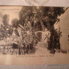 Postales: TARJETA POSTAL FOTOGRAFICA ESTACION DE INVIERNO Y BAÑOS DE BUSOT, ALICANTE, CA. 1915. Lote 33758941