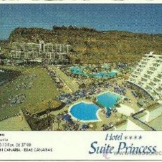 Postales: HOTEL SUITE PRINCESS - URBANIZACIÓN TAURITO - MOGAN - GRAN CANARIA - 1996 - CIRCULADA. Lote 33820518