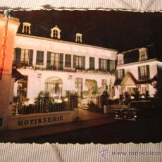 Postales: TARJETA POSTAL ORIGINAL HOTEL DE PARIS, 2 SELLOS Y MATASELLO, CA. 1950. Lote 34104024